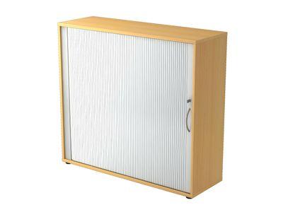 DR-Büro abschließbarer Rollladenschrank V1733S - Aktenschrank in drei Ordnerhöhen - Maße 120 x 40 x 110 cm - Korpus in 5 Farben - Höhenjustierung bis 10 mm – Bild 4