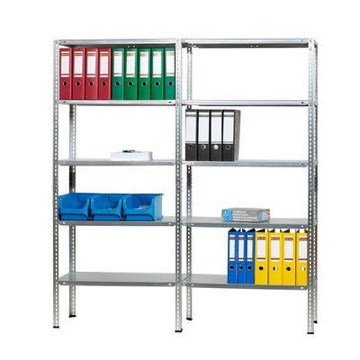 Doppelregal DR-Büro 1590 - (B/T/H) 160x40x180 cm - Stahlblech mit 10 Einlegeböden - Tragkraft je Ebene 85 kg – Bild 2