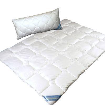 Garanta-SET Mono Steppbett Bettdecke in 3 Größen und Kopfkissen 40x80 Clean 95 hygienische – Bild 1
