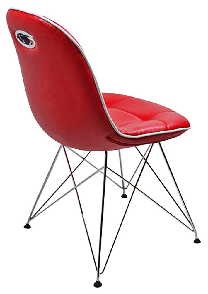 2 st hle im stil der f nfziger jahre rot wei schlafen. Black Bedroom Furniture Sets. Home Design Ideas