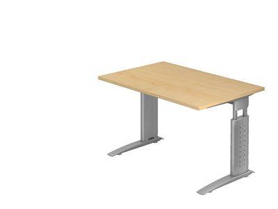 DR-Büro Bürotisch - Stahlgestell silber - Schreibtisch höhenverstellbar - in 7 Farbvarianten - unterschiedliche Tischgrößen – Bild 16