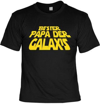 T-Shirt Set Rahmenlos Design für den Vater - Bester Papa der Galaxis - inkl. Minishirt