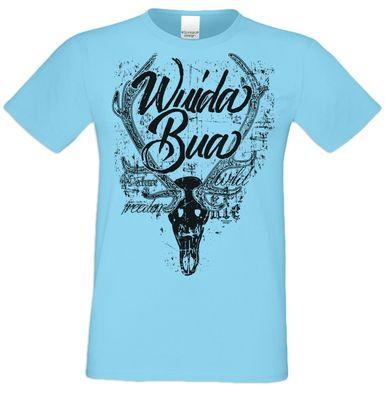 Soreso Design T-Shirt Herren - Wuida Bua mit Geweih