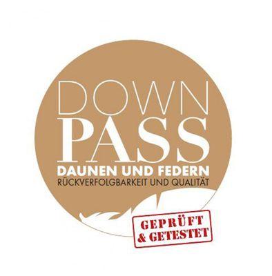 Bettdecke Spessarttraum Bronze 200 x 220 / Füllgewicht 1210 g - Ganzjahres Daunenbett, Füllung 90% Daunen und 10% Federn – Bild 3