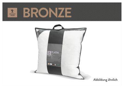 Kopfkissen Spessarttraum Bronze 80 x 80 - Kissen mittelweich mit 85% Federn und 15% Daunen gefüllt – Bild 4