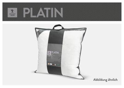 Kopfkissen Spessarttraum Platin - 80 x 80 - Kissen mittelweich mit 40% Gänsefedern und 60% Gänsedaunen gefüllt – Bild 4