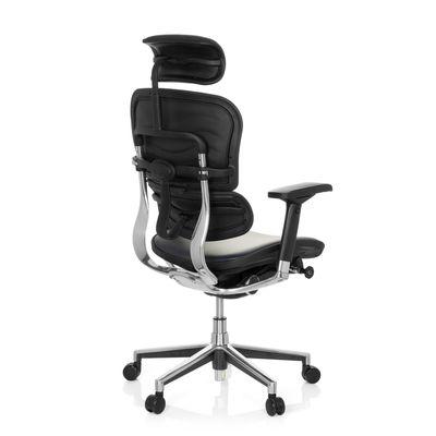Bürostuhl DR-Büro Poreo 102 - Chefsessel mit Kopfstütze und Armlehnen - höhenverstellbar - Bezug echtes Leder dunkelblau – Bild 4