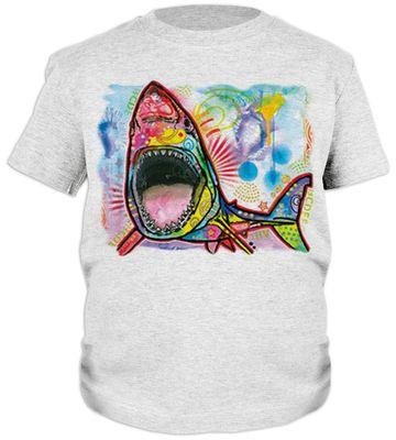 Kinder-Shirt für Jungen - Hai - T-Shirt mit leuchtendem Neon-Motiv Bild 2