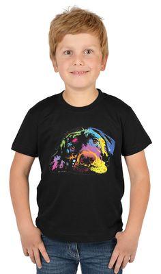 Kinder-Shirt für Jungen - Labrador - T-Shirt mit leuchtendem Neon-Motiv
