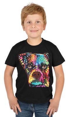 Kinder-Shirt für Jungen - Bunter Boxer - T-Shirt mit leuchtendem Neon-Motiv