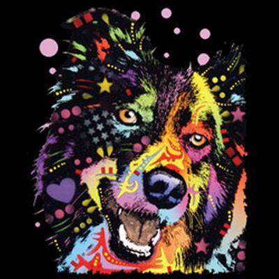 Kinder-Shirt für Jungen - Border Collie - T-Shirt mit leuchtendem Neon-Motiv Bild 3