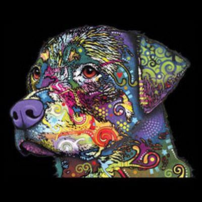 Kinder-Shirt für Jungen - Rottweiler - T-Shirt mit leuchtendem Neon-Motiv Bild 3