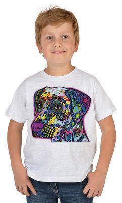 Kinder-Shirt für Jungen - Dalmatiner - T-Shirt mit leuchtendem Neon-Motiv