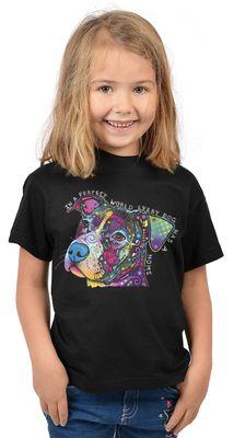 Kinder-Shirt für Mädchen - Perfect World - T-Shirt mit leuchtendem Neon-Motiv
