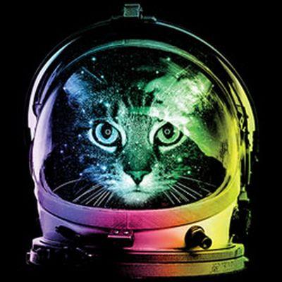Kinder-Shirt für Mädchen - Weltraum Katze - T-Shirt mit leuchtendem Neon-Motiv Bild 3