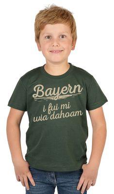 Bayerisches Kindershirt - Bayern i fui mi wia dahoam - T-Shirt für Jungen zum Oktoberfest