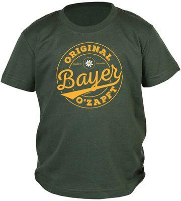 Bayerisches Kindershirt - Original Bayer Ozapft - Edelweiß - T-Shirt für Jungen zum Oktoberfest Bild 2