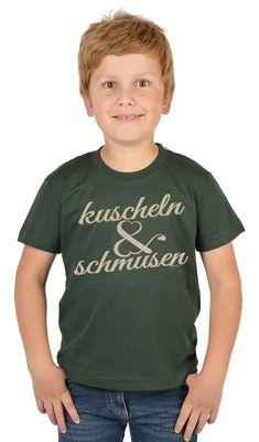 Bayerisches Kindershirt - Kuscheln & schmusen - T-Shirt für Jungen zum Oktoberfest