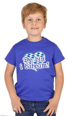 Bayerisches Kindershirt - Do bin i dahoam - Herz - Rauten - T-Shirt für Jungen zum Oktoberfest