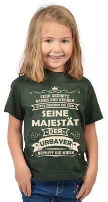 Bayerisches Kindershirt - Seine Majestät der Urbayer betritt die Wiesn - T-Shirt für Mädchen zum Oktoberfest