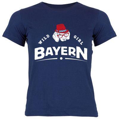 Bayerisches Kindershirt - Wild Girl Bayern - Dackel Hund - T-Shirt für Mädchen zum Oktoberfest Bild 2