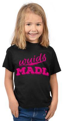 Bayerisches Kindershirt - Wuids Madl - T-Shirt für Mädchen zum Oktoberfest
