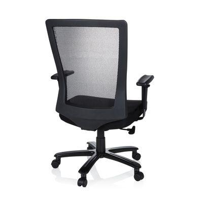 Bürostuhl DR-Büro Garve - Drehstuhl mit Armlehnen und extra breiter Sitzfläche - hohe Belastbarkeit - Bezug schwarz – Bild 4