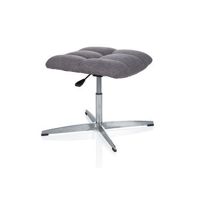 Bürohocker DR-Büro Mokar - Sitzhocker im Retro Design - Stoffbezug grau - stufenlos höhenverstellbar - Fußablage – Bild 3