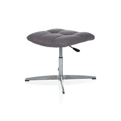 Bürohocker DR-Büro Mokar - Sitzhocker im Retro Design - Stoffbezug grau - stufenlos höhenverstellbar - Fußablage – Bild 4