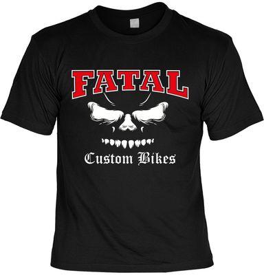 Bikershirt Unisex - Fatal Bikes - T-Shirt im Geschenk-Set mit Blechschild Bild 2