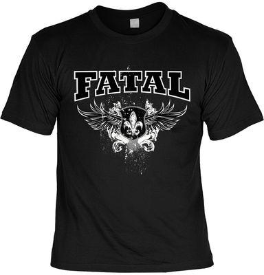 Bikershirt Unisex - Fatal - T-Shirt im Geschenk-Set mit Blechschild Bild 2