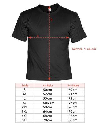 Bikershirt Unisex - Skull - T-Shirt im Geschenk-Set mit Blechschild Bild 4