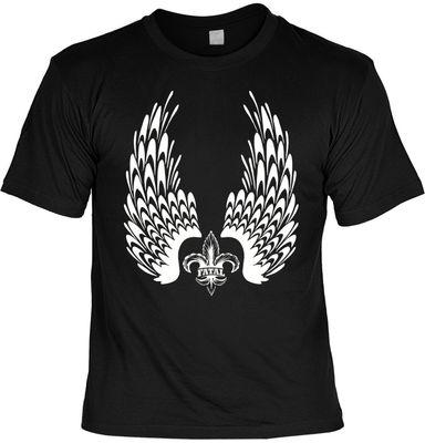Bikershirt Unisex - Fatal Wings - T-Shirt im Geschenk-Set mit Blechschild Bild 2