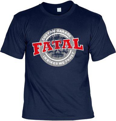 Bikershirt Unisex - Fatal Custom - T-Shirt im Geschenk-Set mit Blechschild Bild 2
