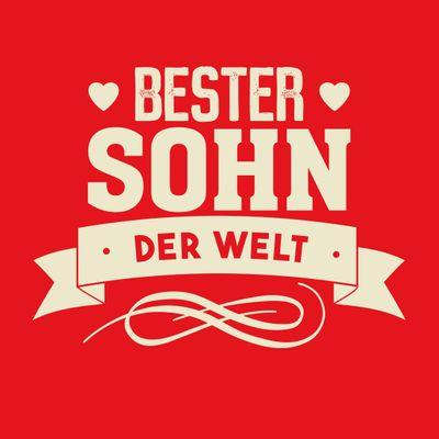 T-Shirt für Herren zu Weihnachten - B e s t e r Sohn der Welt - Geschenk-Idee für Lieblingssöhne Bild 2