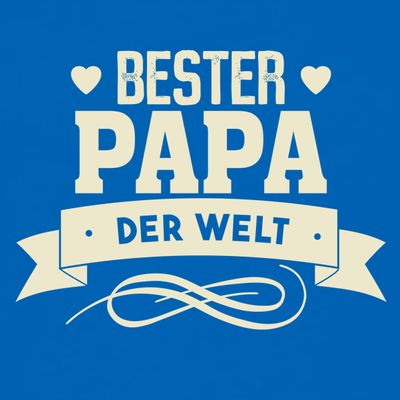 T-Shirt für Herren zu Weihnachten - B e s t e r Papa der Welt - Geschenk-Set mit lustiger Urkunde Bild 2