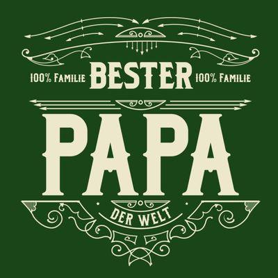 T-Shirt für Herren zu Weihnachten - B e s t e r Papa - Geschenk-Set mit lustiger Urkunde Bild 2