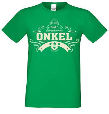T-Shirt für Herren zu Weihnachten - Danke Onkel - Geschenk-Idee für Lieblingsonkels