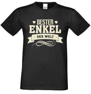 T-Shirt für Herren zu Weihnachten - B e s t e r Enkel der Welt - Geschenk-Idee für Lieblingsenkel