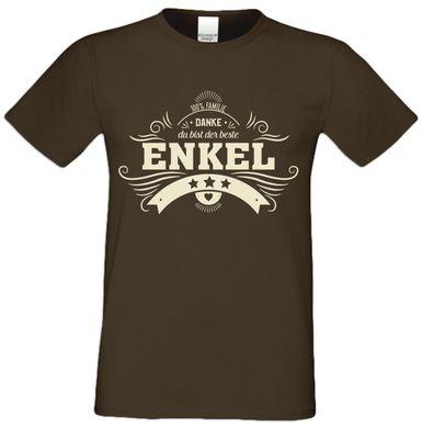 T-Shirt für Herren zu Weihnachten - Danke Enkel - Geschenk-Idee für Lieblingsenkel