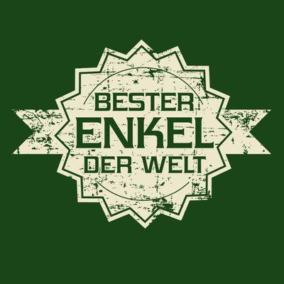 T-Shirt für Herren zu Weihnachten - B e s t e r Enkel der Welt Stern - Geschenk-Idee für Lieblingsenkel Bild 2