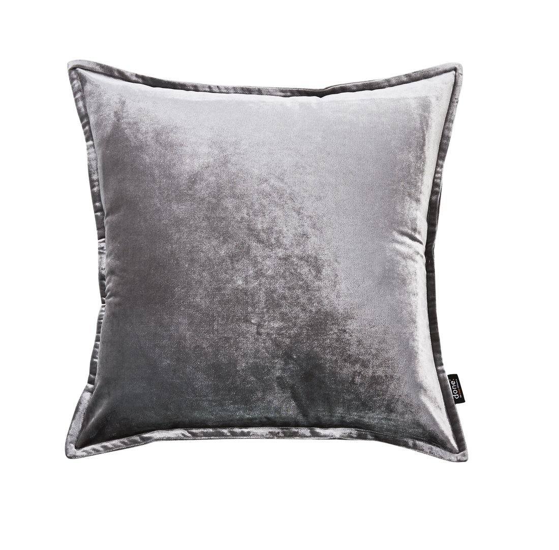 Couchkissen Glam Sofakissen Samt In Farbe Silber Grossen 45x45 Cm
