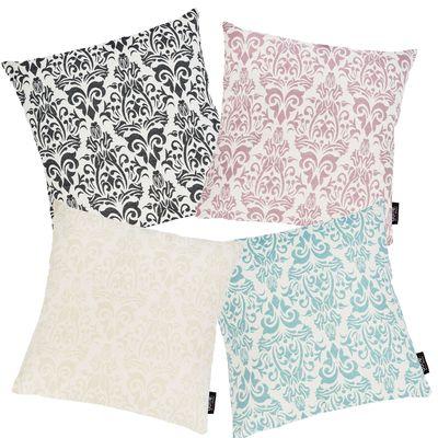 Kissenbezug Windsor Ornaments mit Motivdruck - Sofa Kissenhülle mit Reißverschluss - 4 Farben - Größe 45x45 cm – Bild 2