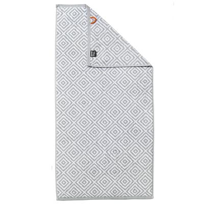 Duschtuch Daily-Shapes-Diamond - Frottee Badetuch gemustert - Schwarz, Anthrazit, Grau / Weiß - 100% Baumwolle – Bild 2