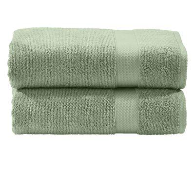 Duschhandtuch-Set Deluxe 2 tlg. - 2 Duschtücher / Badetücher Frottee - Premium Qualität aus 100% Baumwolle - 8 Trendfarben – Bild 5