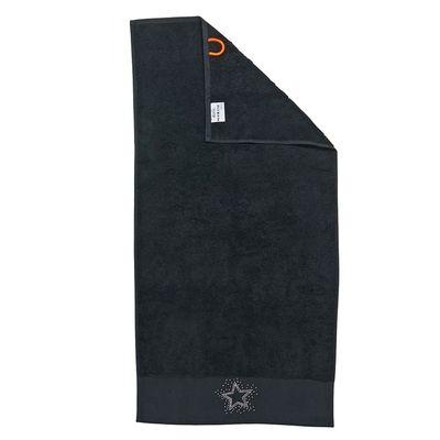 Duschtuch Black-Line Stone - Badetuch mit 5 Strass-Stein Motiven - schwarz oder silber - Exklusives Frottee 100% Baumwolle – Bild 3