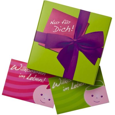 Geschenkeset Baby zur Geburt oder Taufe - Wärmekissen Schnullerkette Türschild mit Namen - 3 Farben für Mädchen und Jungen  Bild 4