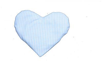 Wärmekissen oder Kältekissen für Baby und Kleinkinder - Herz Körnerkissen kariert mit Rapssamen Bild 3
