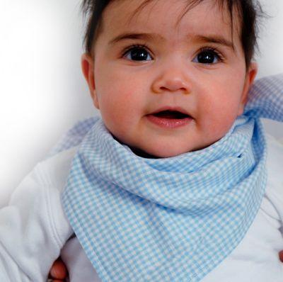 Baby Dreieckstuch mit Karomuster - Halstuch Lätzchen Spucktuch Baumwolle - für Mädchen und Jungen Bild 4