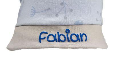 Baby-Sonnenhut personalisiert - Sommermütze mit Nackenschutz - für Mädchen und Jungen - Bio-Baumwolle Bild 6